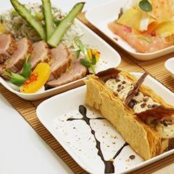 Des plateaux repas élégants et savoureux