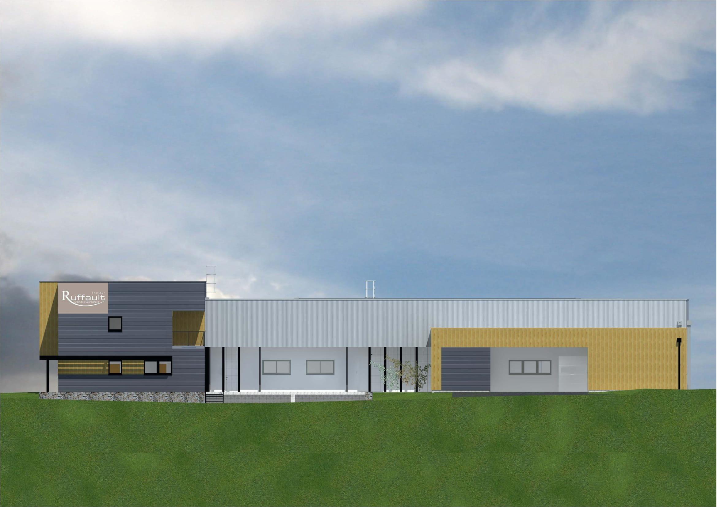 Facade Est du nouveau laboratoire Ruffault