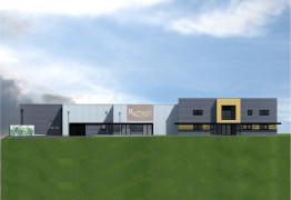 Facade Sud du nouveau laboratoire Ruffault